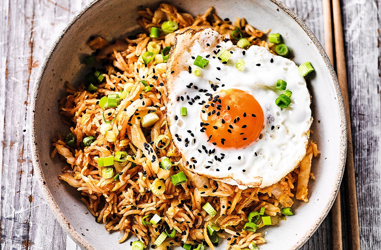 Kimchi egg-fried rice