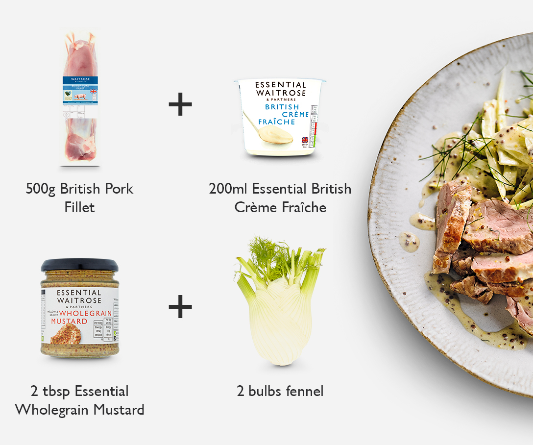 Meal Maths - Pork fillet with fennel slaw