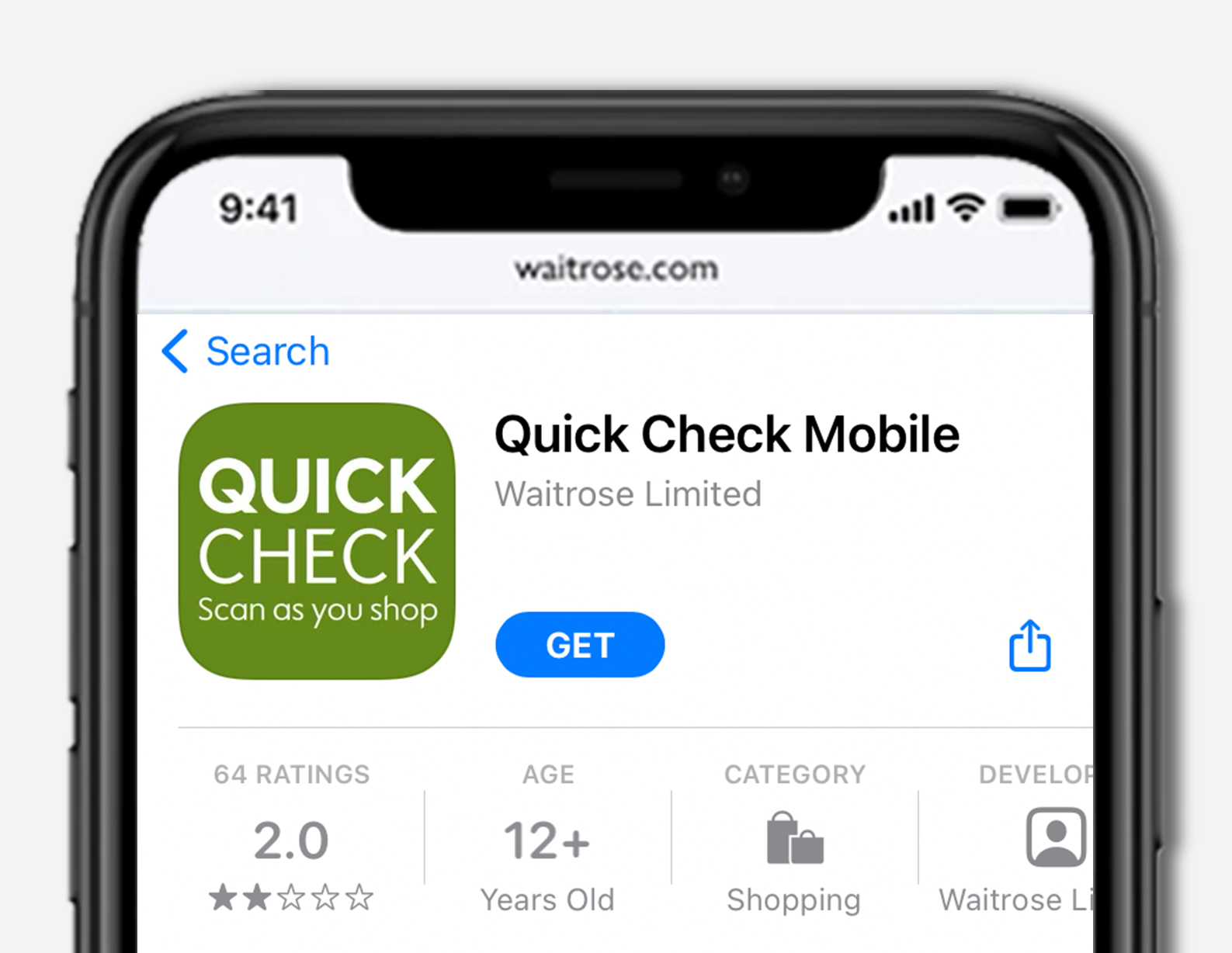 image of quick check mobile phone app