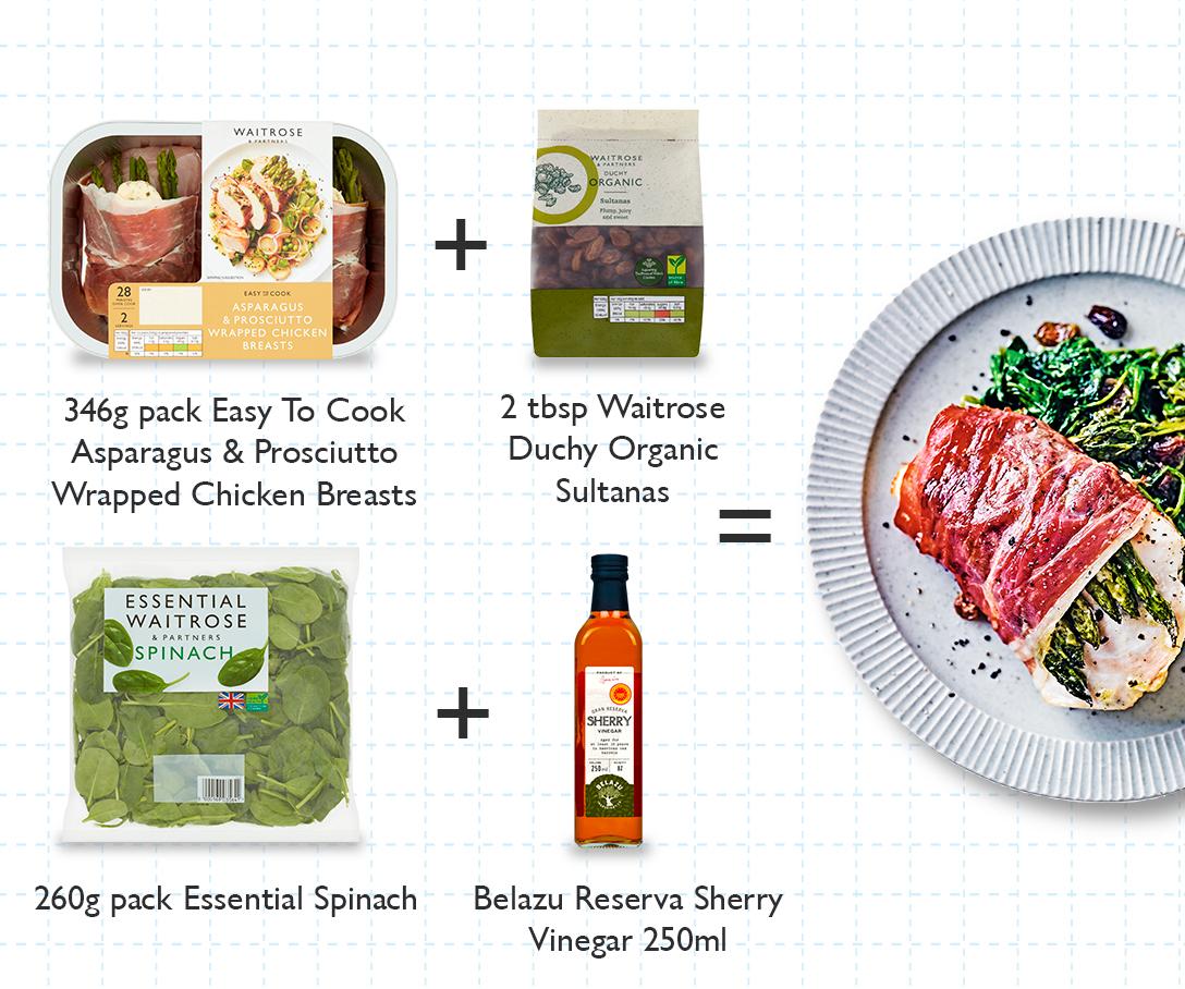 Meal Maths - Chicken, asparagus & spinach