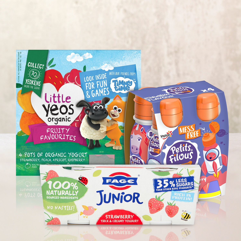 Image of kids yoghurts