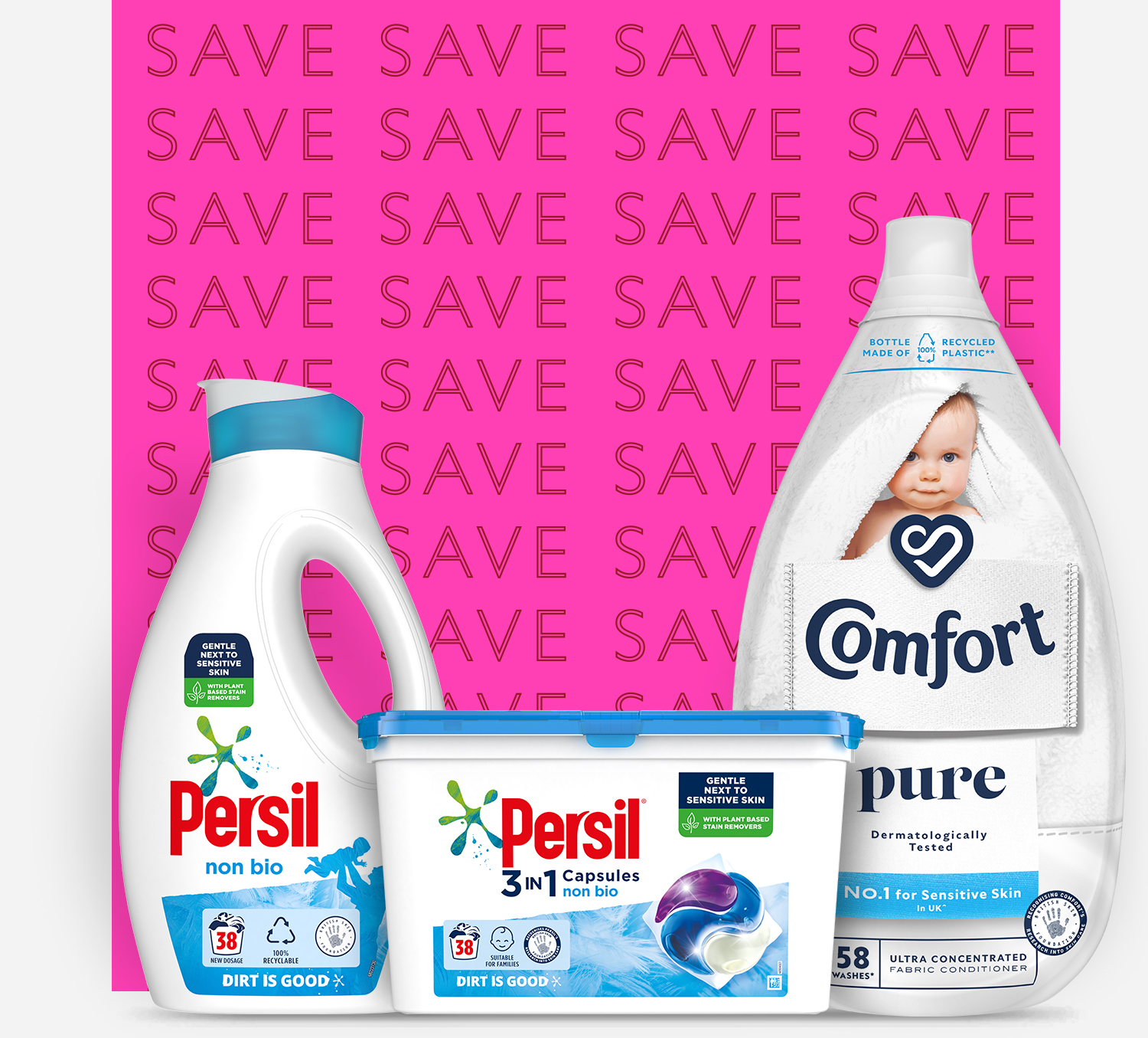 Persil & Comfort laundry detergents