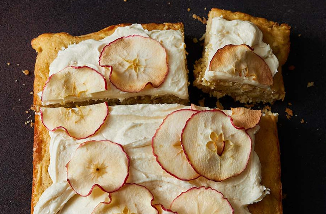 Apple, parsnip and brown butter traybake