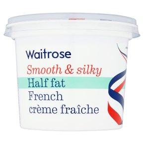 Waitrose half fat French crème fraîche