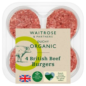 Duchy Organic British Beef 4 Burgers