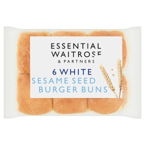 Essential White Sesame Seed Burger Buns