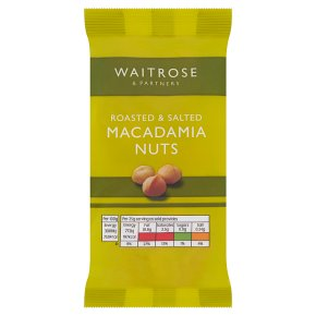 Waitrose roasted salted macadamias