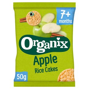 Organix Apple Baby Finger Rice Cakes