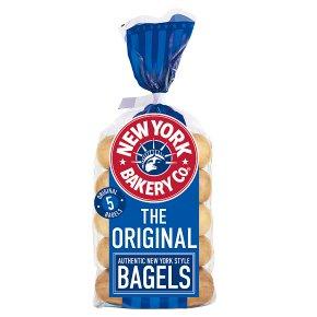 New York Bakery Co Plain Bagels
