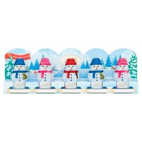 Lindt 5 Milk Chocolate Snowmen