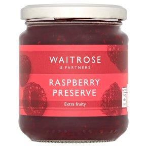 Waitrose raspberry preserve