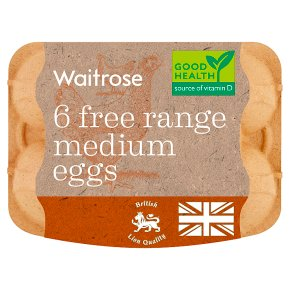 Waitrose British Blacktail Free Range Medium Eggs