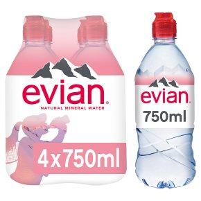 Evian Still Mineral Water Sportscap