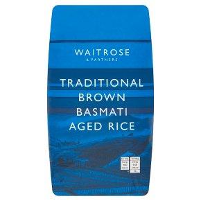 Waitrose Traditional Brown Basmati Aged Rice