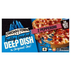 Chicago Town 2 Deep Dish Pizzas Pepperoni
