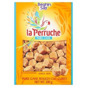 La Perruche Pure Cane Rough Cut Cubes Brown