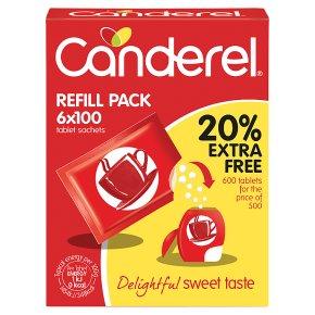 Canderel 5x100 Refill Tablet Sachets Sweetener
