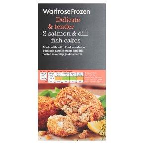Waitrose Frozen 2 Salmon & Dill Fish Cakes