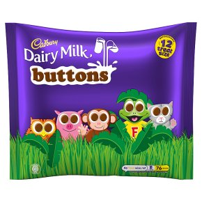 Cadbury treatsize buttons