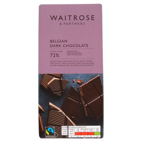 Waitrose Belgian Dark Chocolate 72%