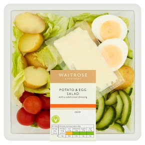 Waitrose Potato & Egg Salad with Salad Dressing