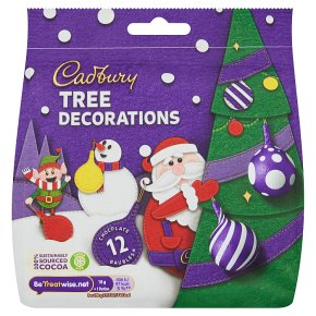 Cadbury 9 Milk Chocolate Tree Decorations