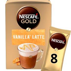 Nescafe Gold Sachets Vanilla Latte Instant Coffee