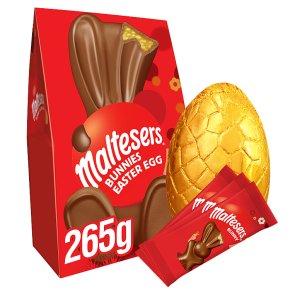 Malteaser Easter egg & 3 Malteaster Bunnies