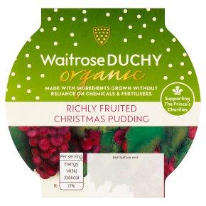 Waitrose Duchy Richly Fruited Christmas Pudding