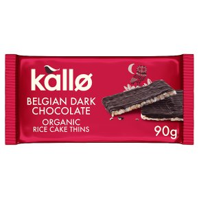 Kallo dark chocolate rice cake thins