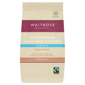 Waitrose Colombian Ground Coffee Decaffeinated