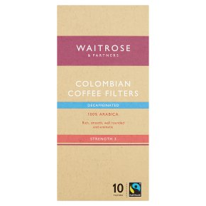 Waitrose FT Decaf Coffee Filters 10s