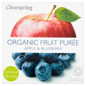 Clearspring pureé apple & blueberry