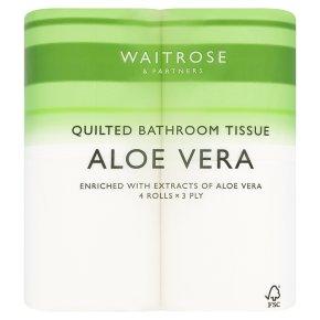 Waitrose Bathroom Tissue with Aloe Vera Extracts