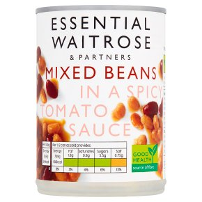 Essential Mixed Beans in a Spicy Tomato Sauce