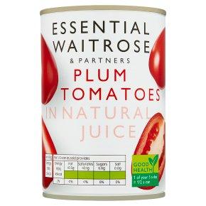 Essential Plum Tomatoes in Natural Juice