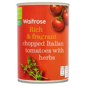 Waitrose chopped tomatoes with chopped herbs