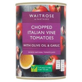 Waitrose chopped tomatoes, olive oil & garlic