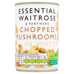 Essential Chopped Mushrooms in Water