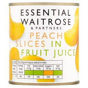 Essential Peach Slices in Grape Juice