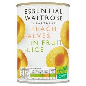 Waitrose Peach Halves in Grape Juice