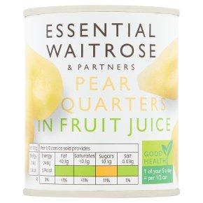 Essential Pear Quarters in Fruit Juice