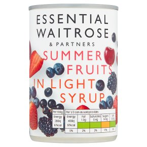 Essential Summer Fruits in Syrup