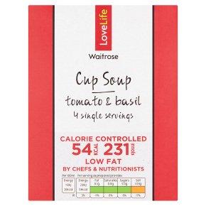 LOVE life 54 calories cup soup tomato & basil