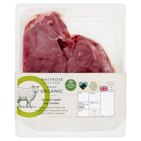Duchy from Waitrose British Lamb Leg Steaks