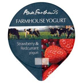 Ann Forshaw's Farmhouse Strawberry Redcurrant Yogurt
