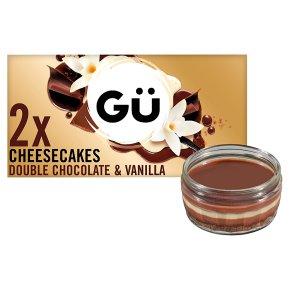 Gü Chocolate & Vanilla Cheesecakes