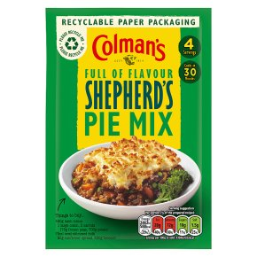 Colman's recipe mix shepherd's pie