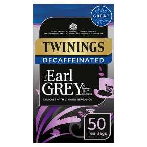 Twinings 50 Tea Bags Earl Grey Decaffeinated
