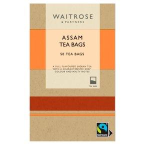 Waitrose Fairtrade Rich & Robust 50 Assam Tea Bags